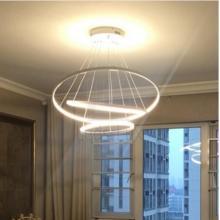 Современная LED люстра в виде колец для гостиной или столовой. Модель ll-kd1020-300-450-600