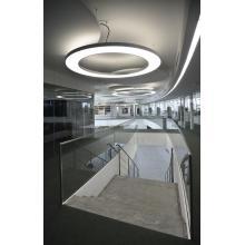 Светодиодные подвесные светильники в виде больших колец
